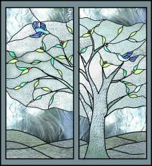 執行木と小鳥A